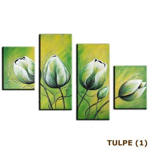 4 Leinwandbilder TULPE (2) 120 x 80cm Handgemalt - 3