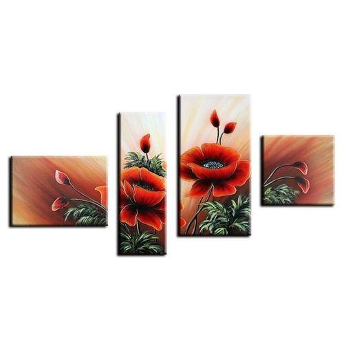 4 Leinwandbilder MOHN (4) 120 x 70cm Handgemalt - 1