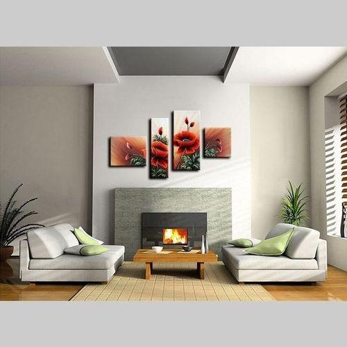 4 Leinwandbilder MOHN (4) 120 x 70cm Handgemalt - 2