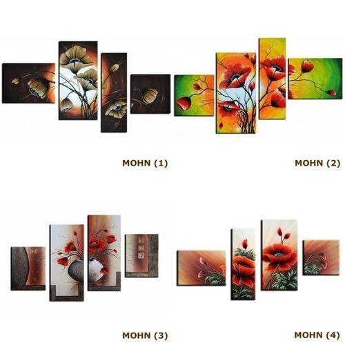 4 Leinwandbilder MOHN (4) 120 x 70cm Handgemalt - 3