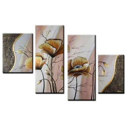 4 Leinwandbilder MOHN (6) 120 x 80cm Handgemalt - 1