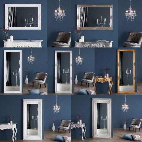 Romantischer Wandspiegel VERONIQUE Weiß Antik in Renaissance-Design 105cm x 75cm | Vertikal oder horizontal aufhängbar! - 4
