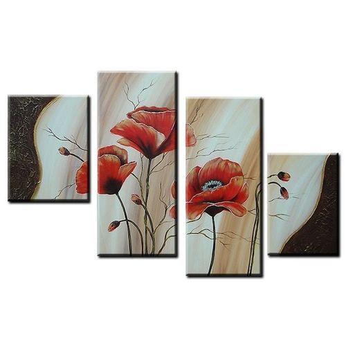 4 Leinwandbilder MOHN (7) 120 x 80cm Handgemalt - 1
