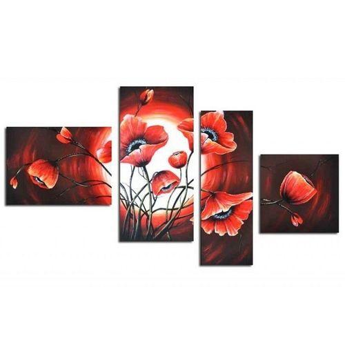 4 Leinwandbilder MOHN (8) 120 x 70cm Handgemalt - 1