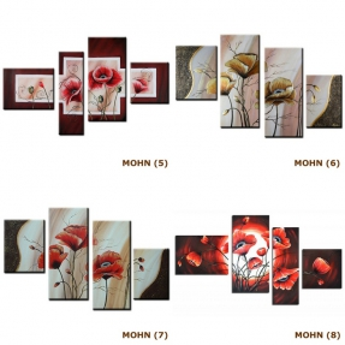 4 Leinwandbilder MOHN (8) 120 x 70cm Handgemalt - 4