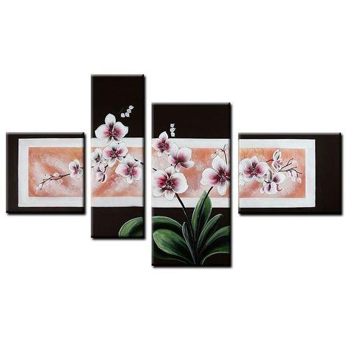 4 Leinwandbilder ORCHIDEEN (1) 120 x 70cm Handgemalt - 1