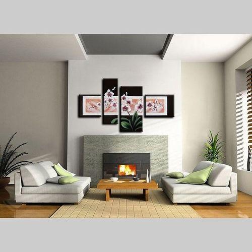 4 Leinwandbilder ORCHIDEEN (1) 120 x 70cm Handgemalt - 2