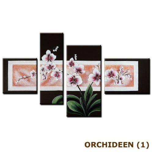 4 Leinwandbilder ORCHIDEEN (1) 120 x 70cm Handgemalt - 3