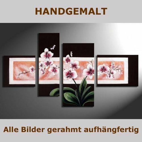 4 Leinwandbilder ORCHIDEEN (1) 120 x 70cm Handgemalt - 4