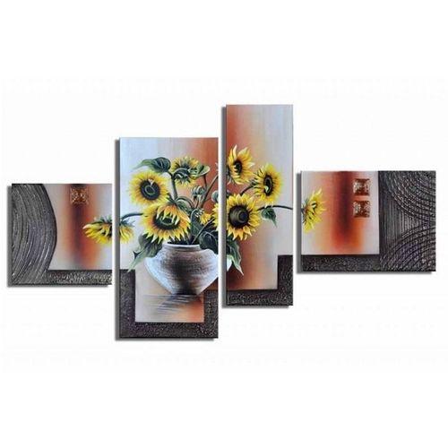 4 Leinwandbilder SONNENBLUME (1) 120 x 70cm Handgemalt - 1