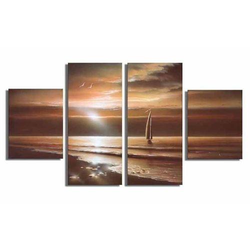4 Leinwandbilder SONNENUNTERGANG (2) 120 x 70cm Handgemalt - 1