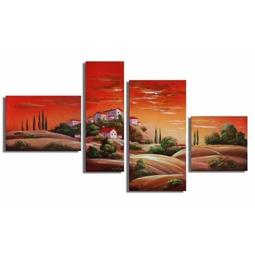 4 Leinwandbilder TOSKANA (1) 120 x 70cm Handgemalt - 1