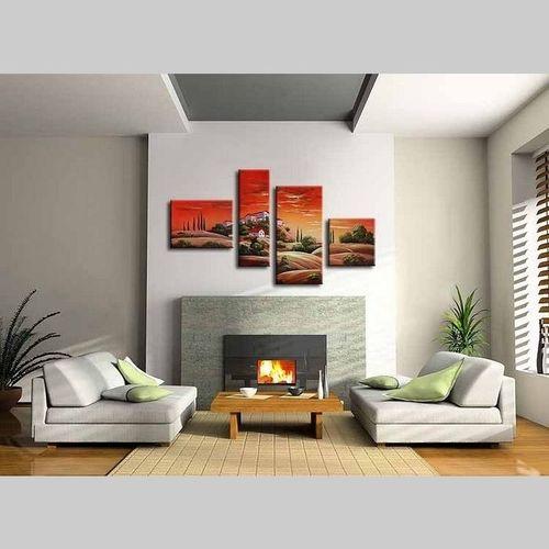 4 Leinwandbilder TOSKANA (1) 120 x 70cm Handgemalt - 2