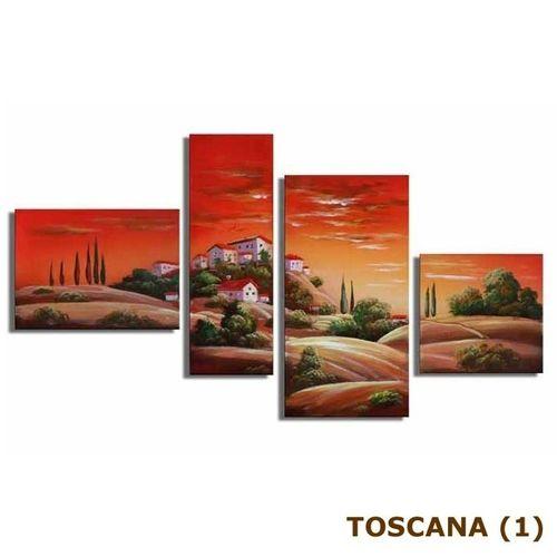 4 Leinwandbilder TOSKANA (1) 120 x 70cm Handgemalt - 3