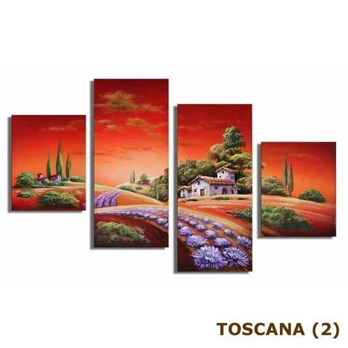 4 Leinwandbilder TOSKANA (1) 120 x 70cm Handgemalt - 4