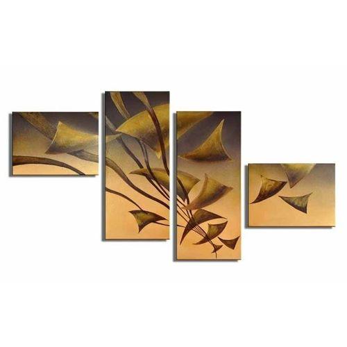 4 Leinwandbilder ABSTRAKTE KUNST (17) 140 x 80cm Handgemalt - 1