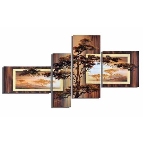 4 Leinwandbilder AFRIKA Baum (4) 140 x 80cm Handgemalt - 1