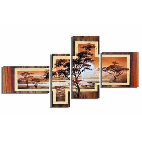 4 Leinwandbilder AFRIKA Baum (6) 140 x 80cm Handgemalt - 1