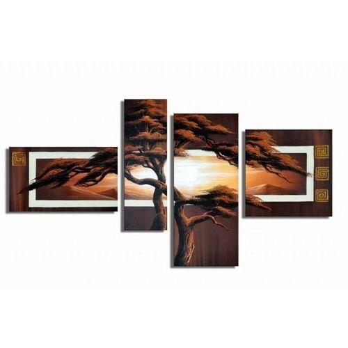 4 Leinwandbilder AFRIKA Baum (8) 140 x 80cm Handgemalt - 1