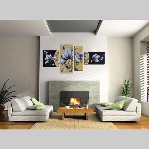 4 Leinwandbilder BLÜTE (4) 140 x 80cm Handgemalt - 2