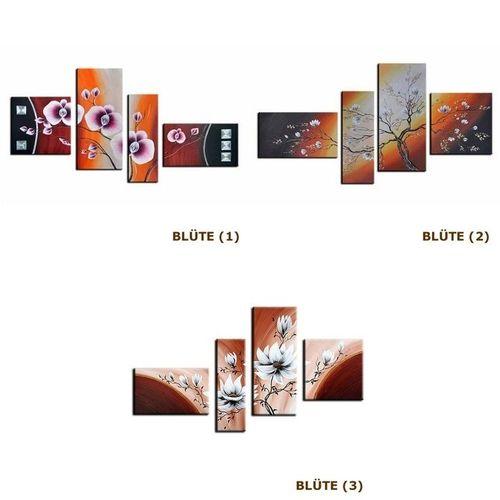 4 Leinwandbilder BLÜTE (4) 140 x 80cm Handgemalt - 3