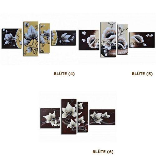4 Leinwandbilder BLÜTE (4) 140 x 80cm Handgemalt - 4