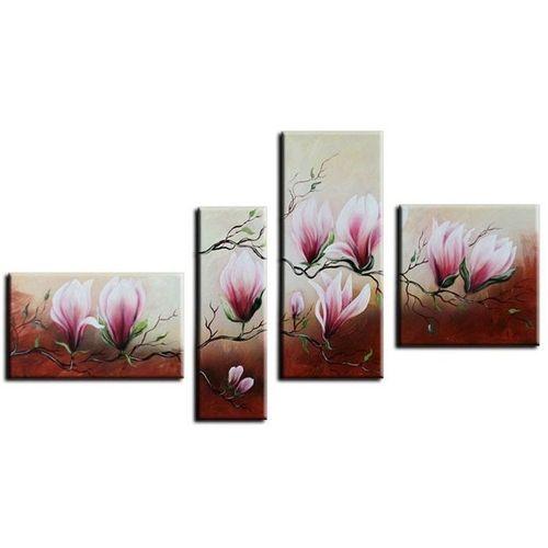 4 Leinwandbilder MAGNOLIA (1) 140 x 80cm Handgemalt - 1