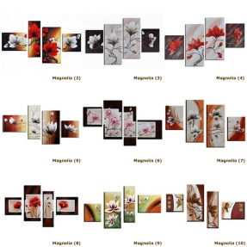 4 Leinwandbilder MAGNOLIA (1) 140 x 80cm Handgemalt - 3