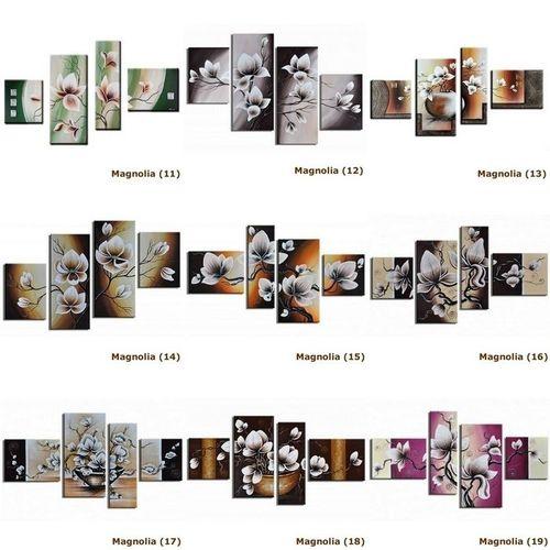 4 Leinwandbilder MAGNOLIA (1) 140 x 80cm Handgemalt - 4