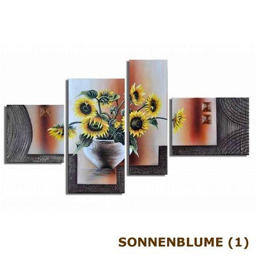 5 Leinwandbilder SONNENBLUME (2) 150 x 70cm Handgemalt - 4