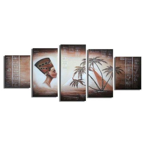 5 Leinwandbilder ÄGYPTEN (1) 150 x 70cm Handgemalt - 1