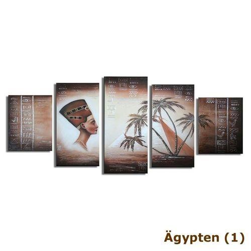 5 Leinwandbilder ÄGYPTEN (1) 150 x 70cm Handgemalt - 3