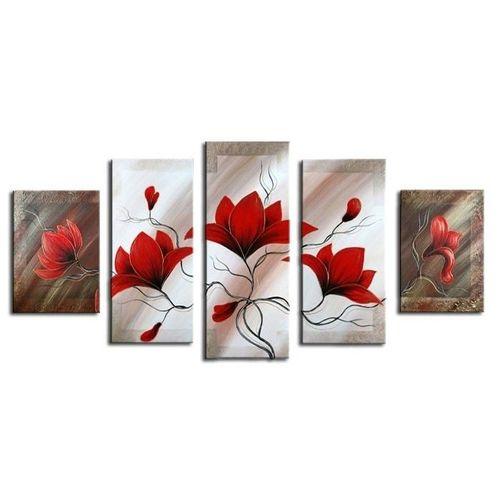 5 Leinwandbilder MAGNOLIA (3) 150 x 70cm Handgemalt - 1