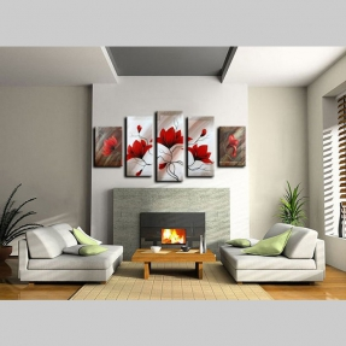 5 Leinwandbilder MAGNOLIA (3) 150 x 70cm Handgemalt - 2