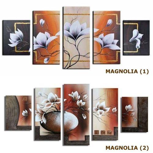 5 Leinwandbilder MAGNOLIA (3) 150 x 70cm Handgemalt - 3