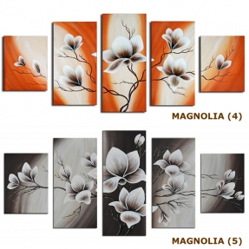 5 Leinwandbilder MAGNOLIA (3) 150 x 70cm Handgemalt - 4