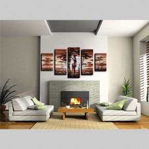 5 Leinwandbilder AFRIKA Frau (3) 150 x 70cm Handgemalt - 2