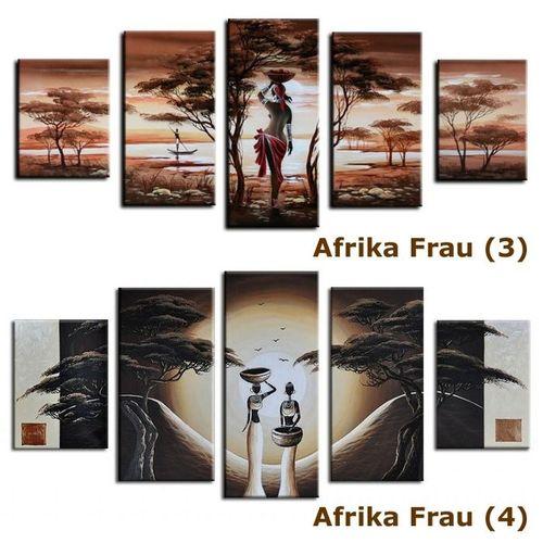 5 Leinwandbilder AFRIKA Frau (3) 150 x 70cm Handgemalt - 4