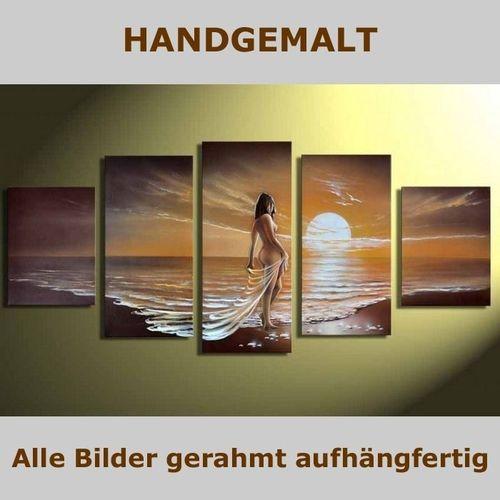 5 Leinwandbilder FRAU am Strand (1) 150 x 70cm Handgemalt - 4