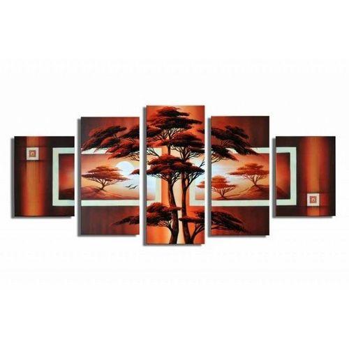 5 Leinwandbilder AFRIKA Baum (3) 150 x 70cm Handgemalt - 1