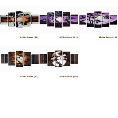 5 Leinwandbilder AFRIKA Baum (3) 150 x 70cm Handgemalt - 4