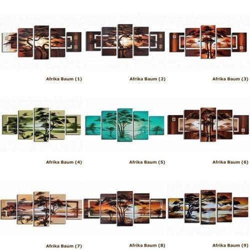 5 Leinwandbilder AFRIKA Baum (7) 150 x 70cm Handgemalt - 3