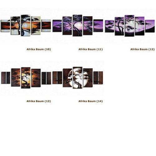 5 Leinwandbilder AFRIKA Baum (7) 150 x 70cm Handgemalt - 4