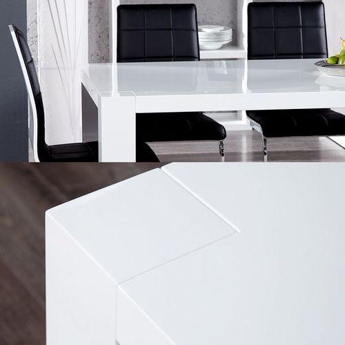 Esstisch YORK Weiß Hochglanz 180cm - 3
