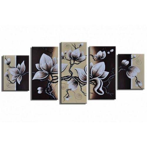 5 Leinwandbilder BLÜTE (2) 150 x 70cm Handgemalt - 1