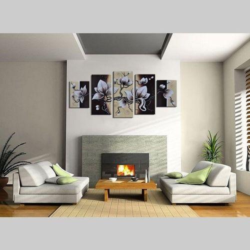 5 Leinwandbilder BLÜTE (2) 150 x 70cm Handgemalt - 2