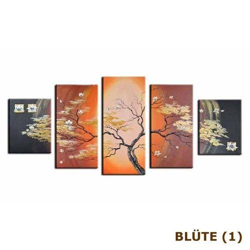 5 Leinwandbilder BLÜTE (2) 150 x 70cm Handgemalt - 3
