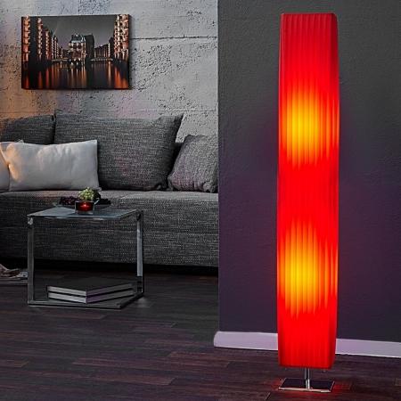 Stehlampe LOOP Rot 120cm Höhe - 1