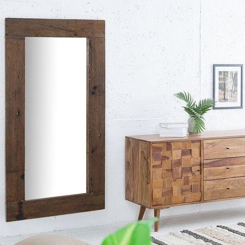 XL Wandspiegel JAVA Dunkelbraun aus recyceltem Teakholz massiv 162cm x 80cm - 1
