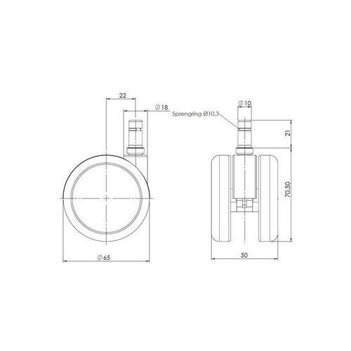 5 x Rollen SPEEDY 10mm x 65mm für Hartböden - 4